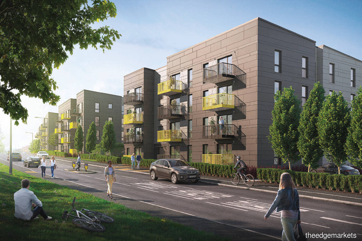 The first BoKlok development in the UK in Airport Road, Bristol, will offer 173 family homes (Pictures by BoKlok UK)