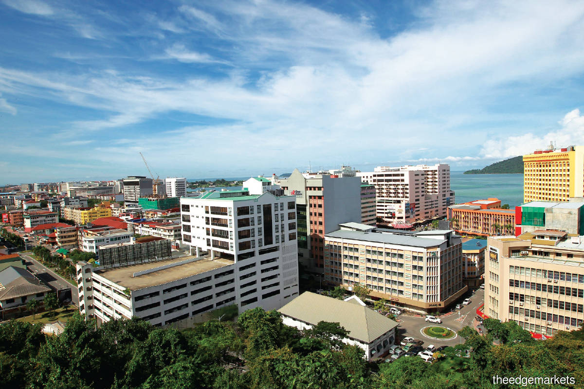 In Kota Kinabalu, asking prices of high-rise residential properties in the secondary market have dropped (Photo by Suhaimi Yusuf/The Edge)
