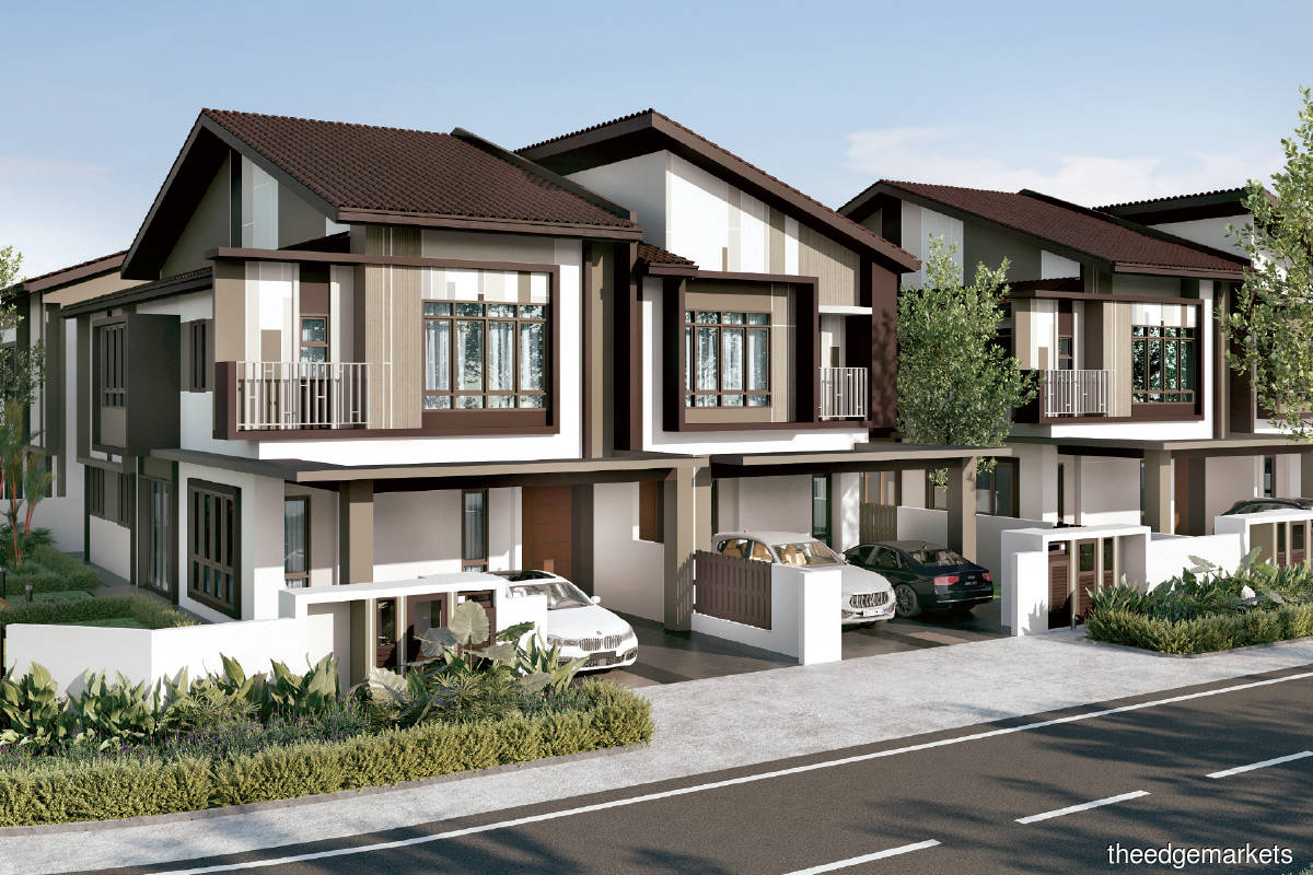 An artist's impression of Leegeana Type F homes, which will have space for larger families (Photo by S P Setia)