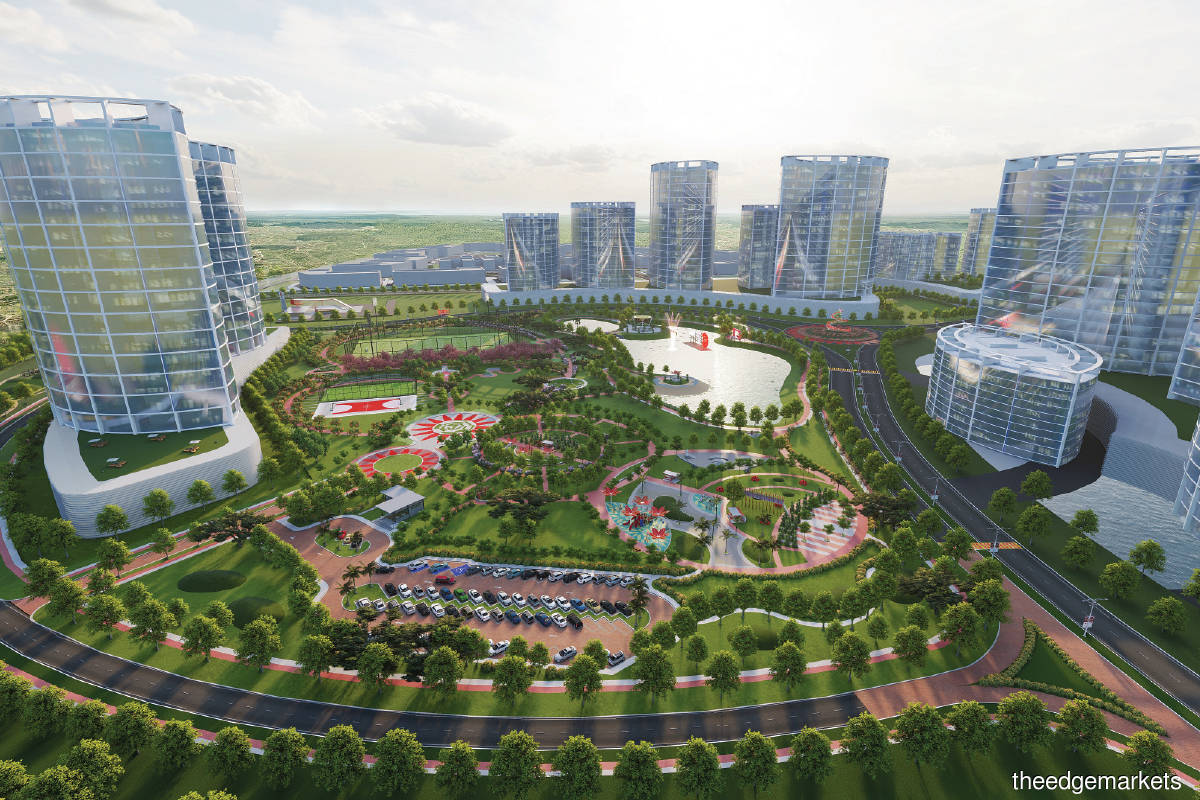An artist's impression of Serenia City (Pictures by Sime Darby Property)