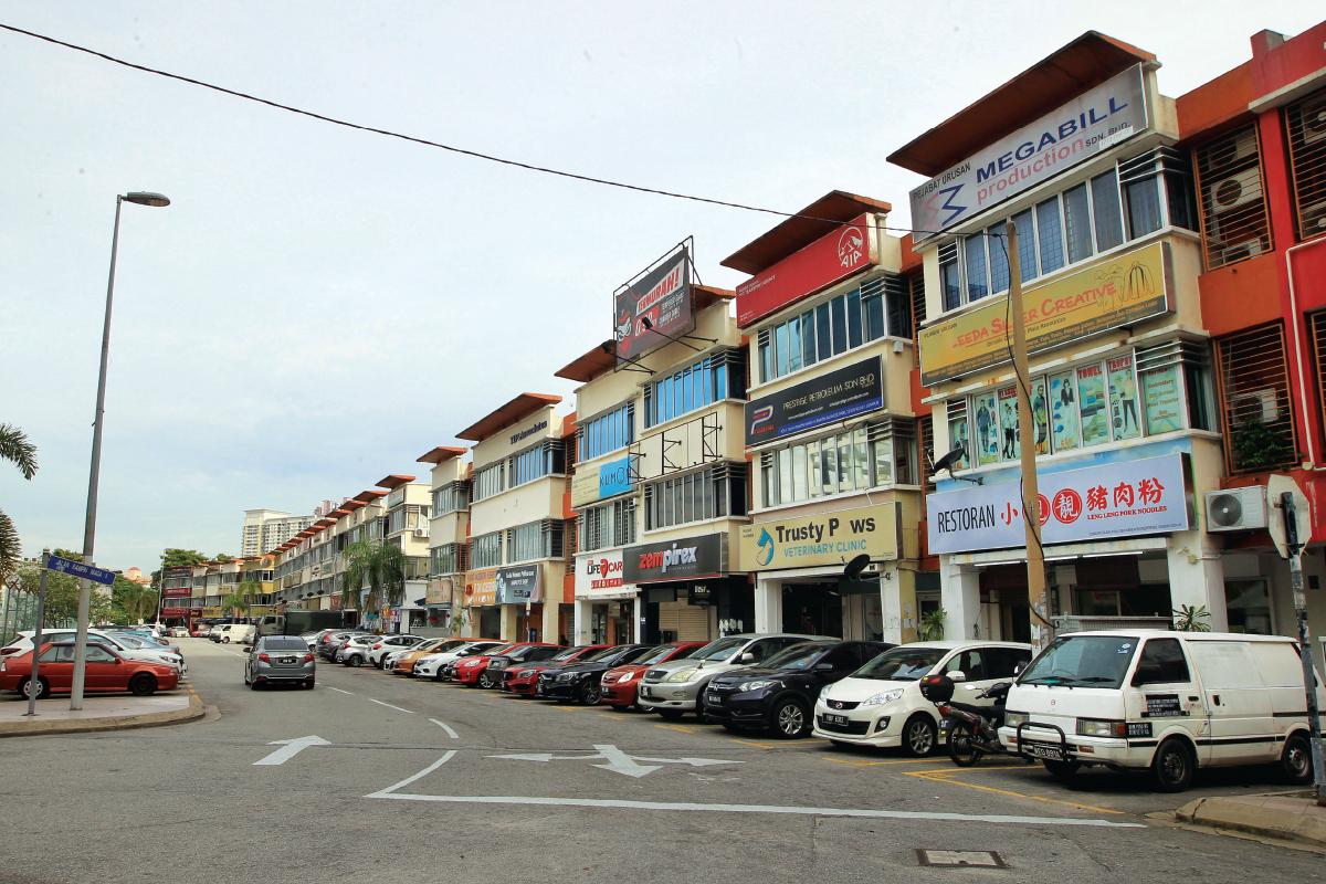 Jalan Rampai Niaga 2 and Jalan Rampai Niaga 4  comprise a mixture of  2- and 3-storey shopoffices (Photo by Shahrin Yahya/The Edge)