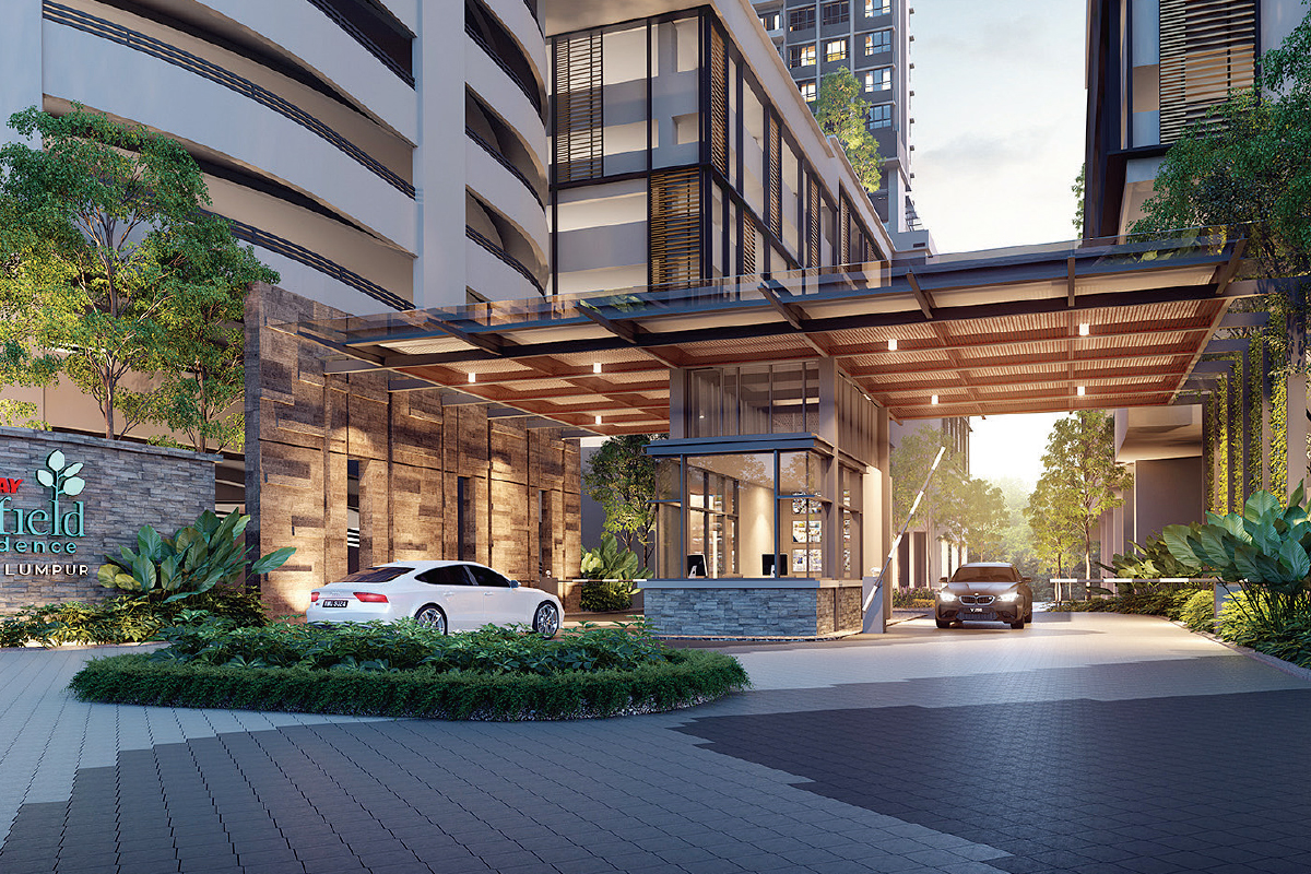 An artist's impression of the entrance and exit of the development (Photo by Sunway Bhd)