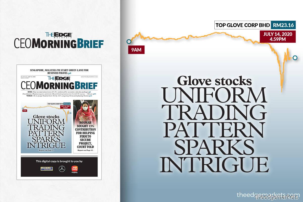 Glove stocks uniform trading pattern sparks intrigue