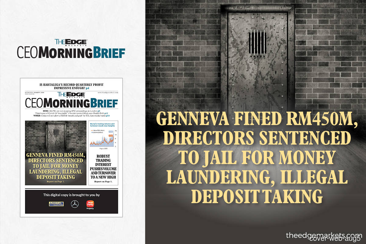 Genneva fined RM450m, directors sentenced to jail for money laundering and illegal deposit taking