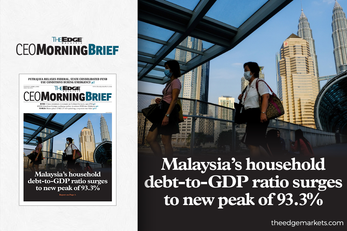 Malaysia's household debt-to-GDP ratio surges to new peak of 93.3%