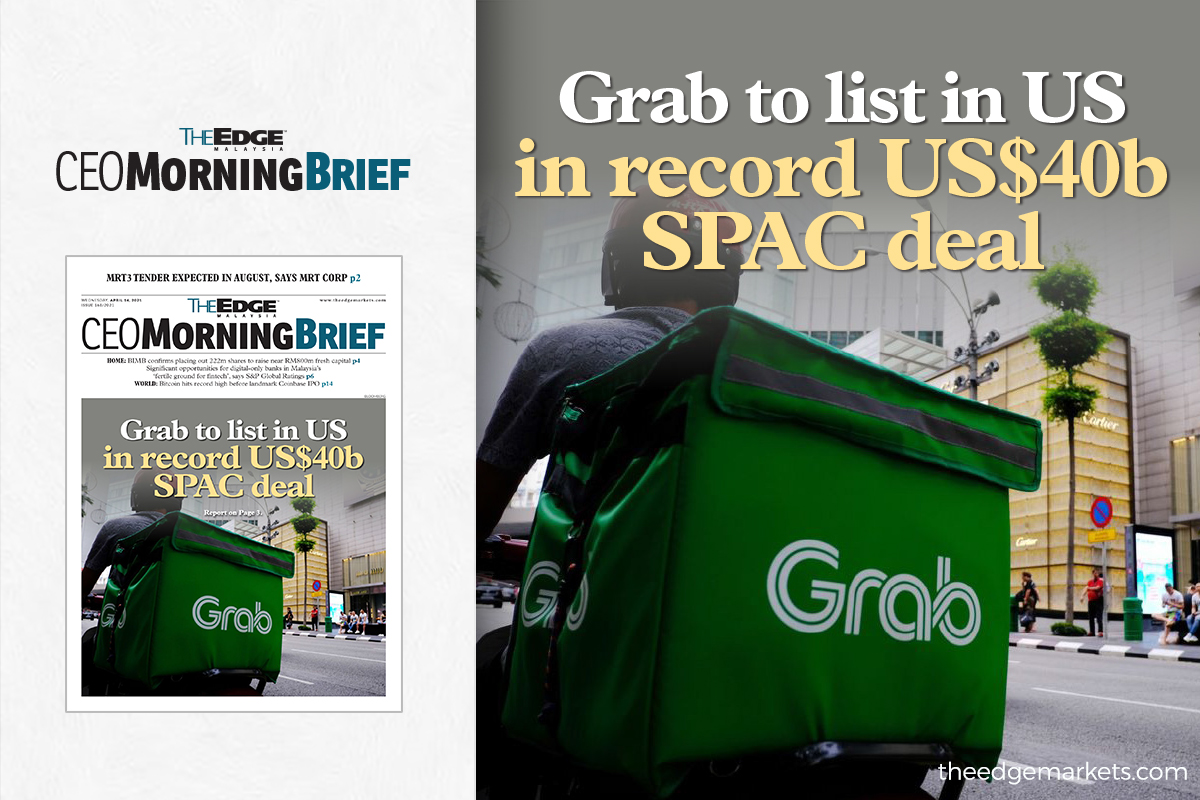 Grab to list in US in record US$40b SPAC deal