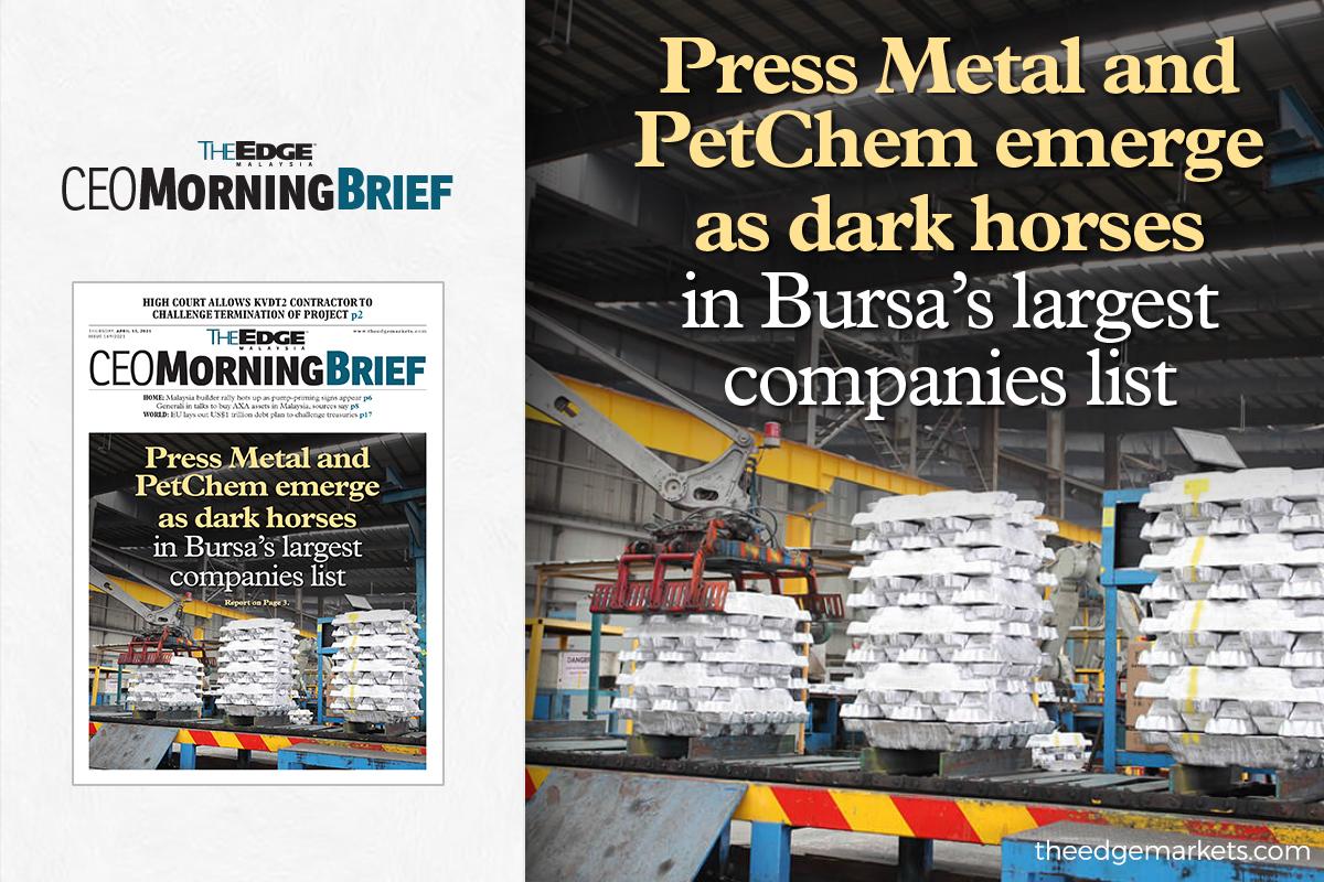 Press Metal and PetChem emerge as dark horses in Bursa's largest companies list