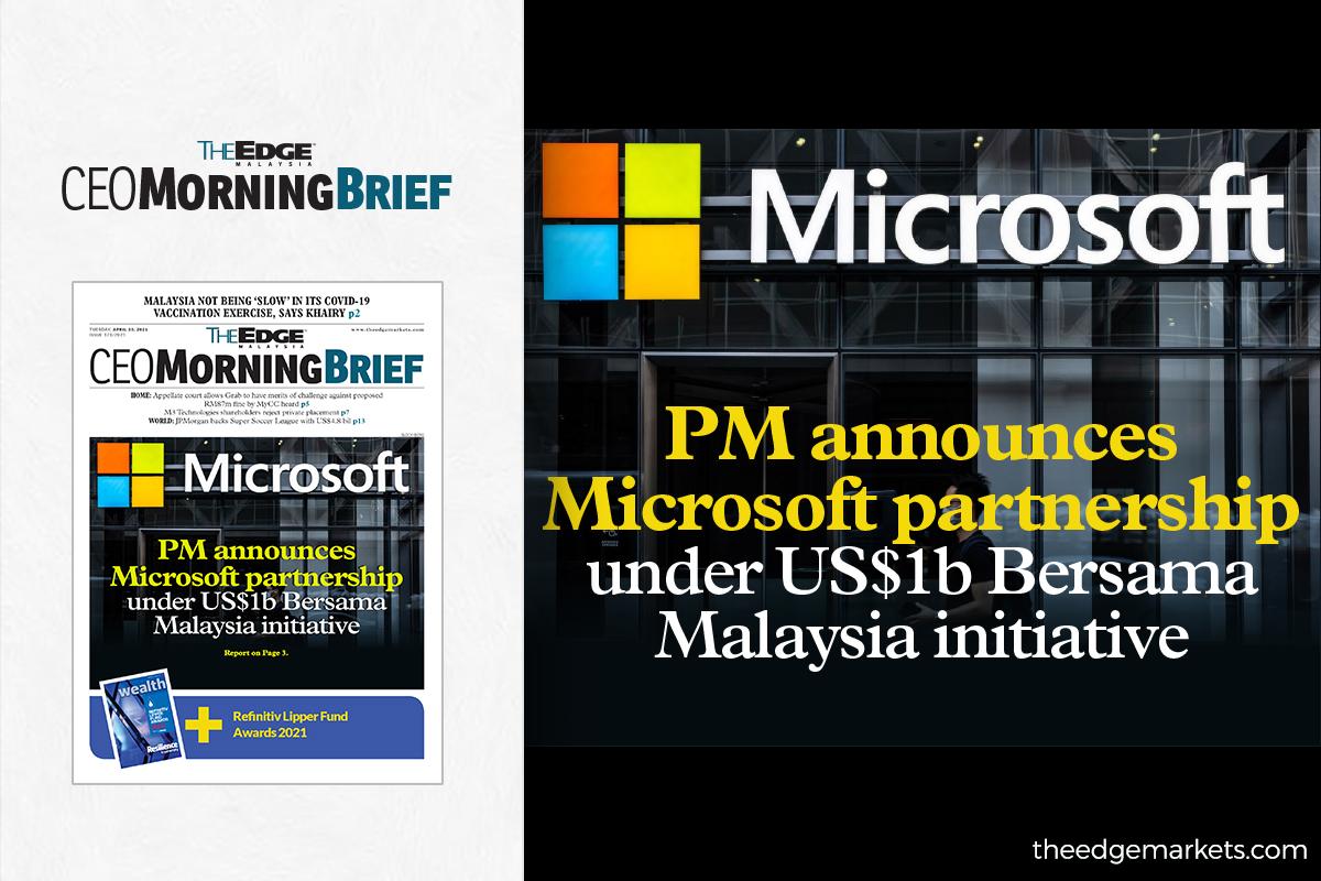 PM announces Microsoft partnership under US$1b Bersama Malaysia initiative