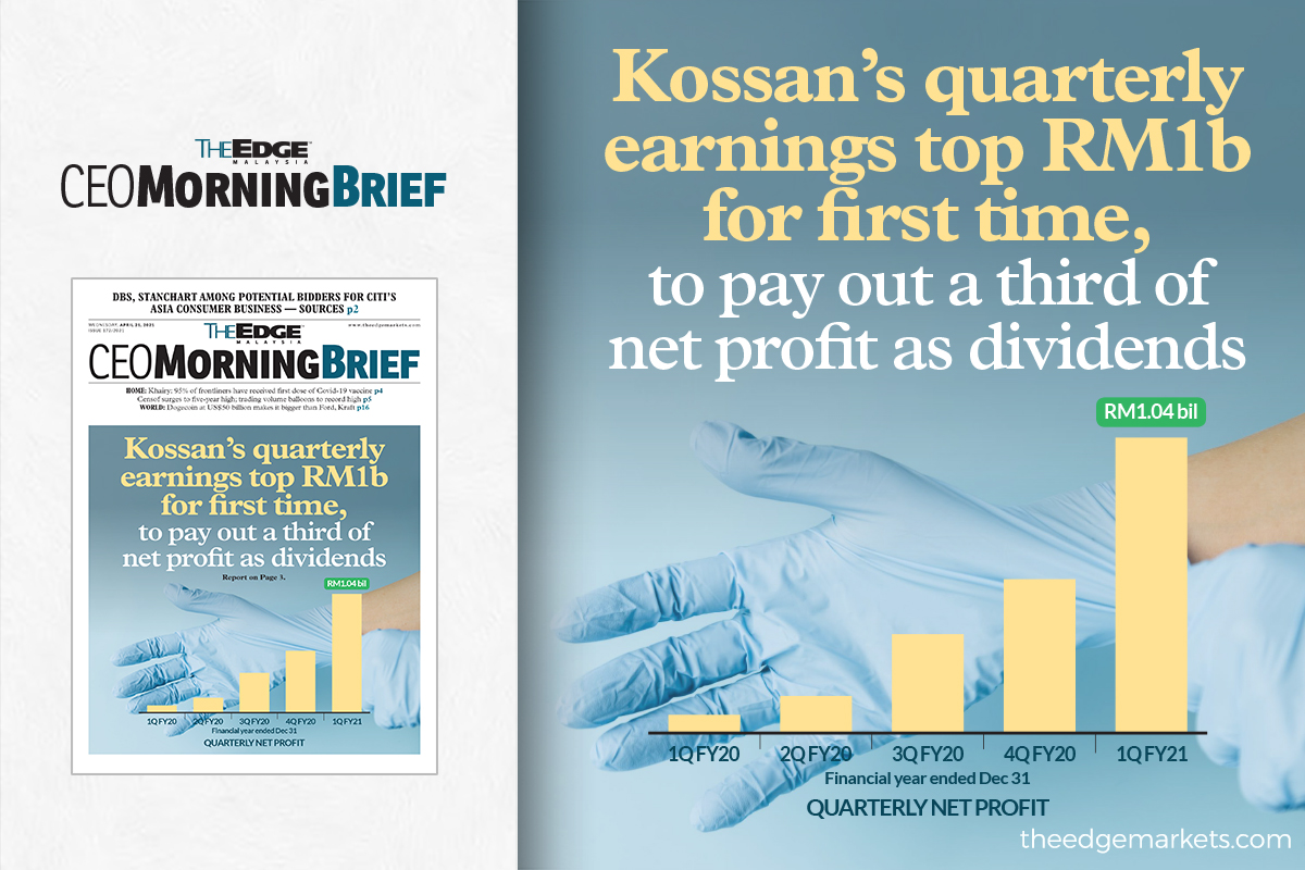 Kossan earnings top RM1b for the first time with latest 1Q results, to pay out a third of net profit as dividends