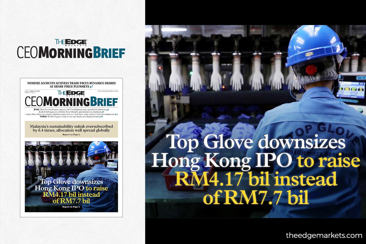 Top Glove downsizes Hong Kong IPO to raise RM4.17 billion instead of RM7.7 billion