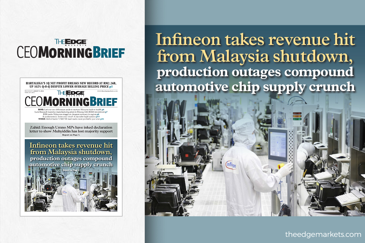 Infineon takes revenue hit from Malaysia shutdown, production outages compound automotive chip supply crunch