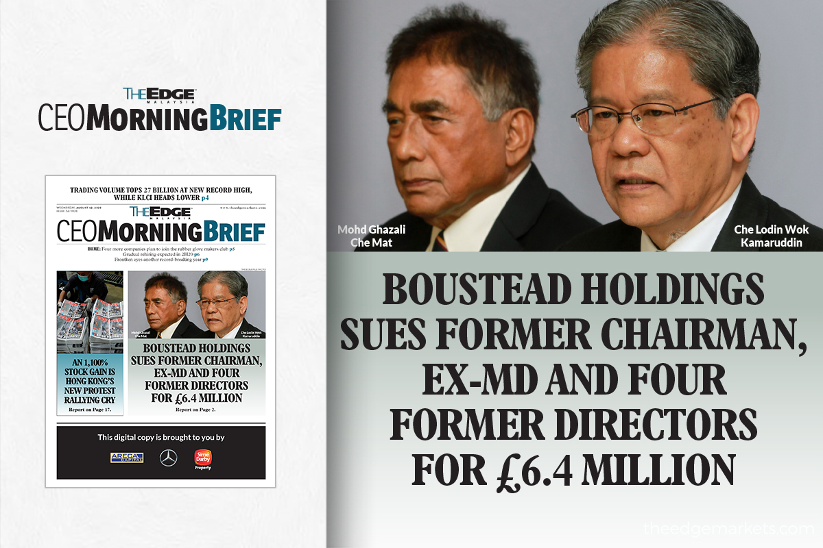 Boustead Holdings sues former chairman, ex-MD and four former directors for £6.4 million