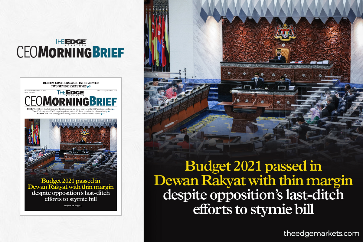 Budget 2021 passed in Dewan Rakyat despite opposition's last-ditch efforts to stymie bill