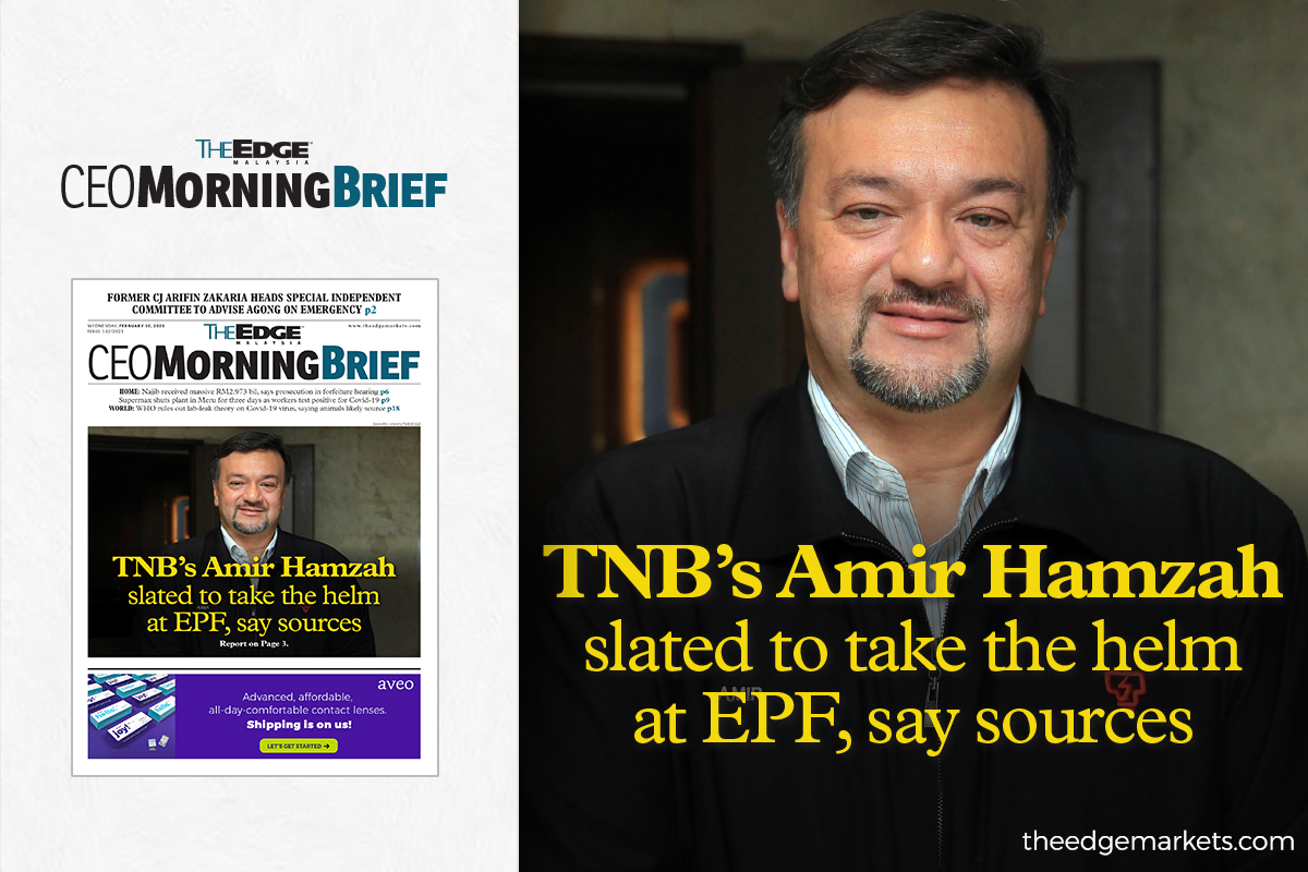 TNB's Amir Hamzah slated to take the helm at EPF, say sources