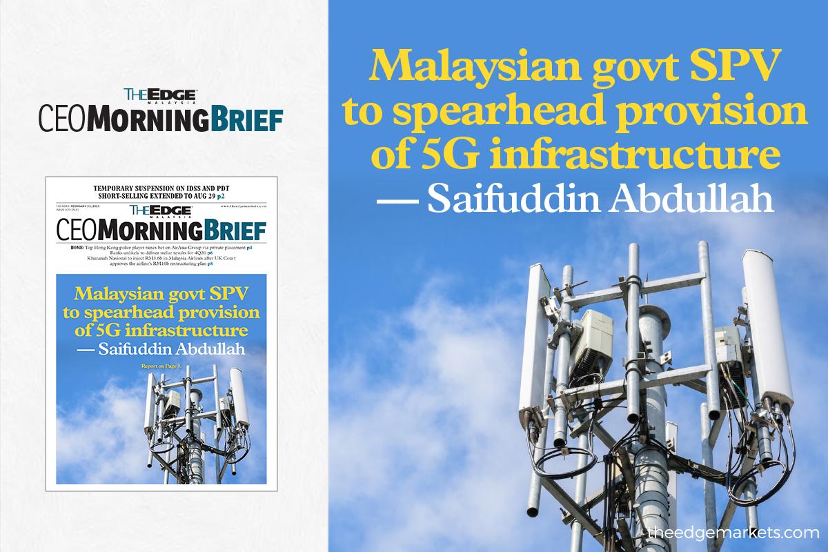 Malaysian govt SPV to spearhead provision of 5G infrastructure — Saifuddin Abdullah