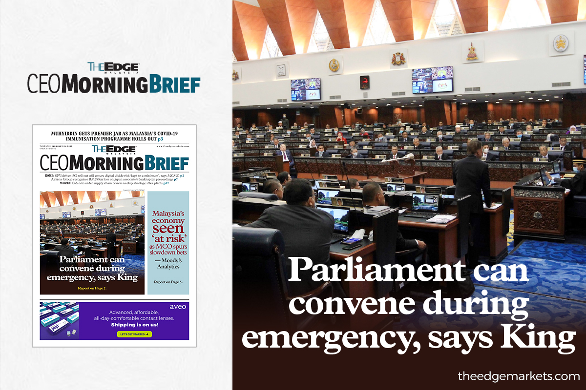 Parliament can convene during emergency, says King
