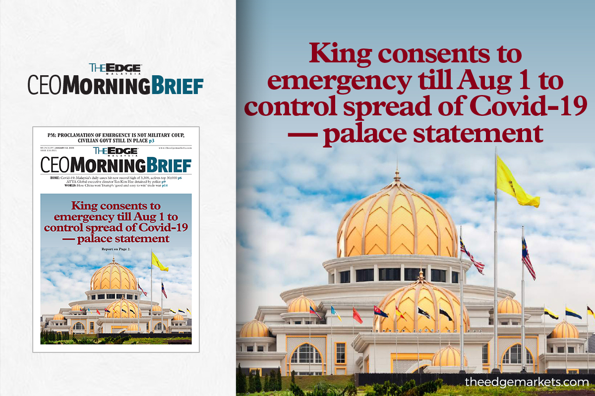 King consents to emergency till Aug 1 to control spread of Covid-19 — palace statement