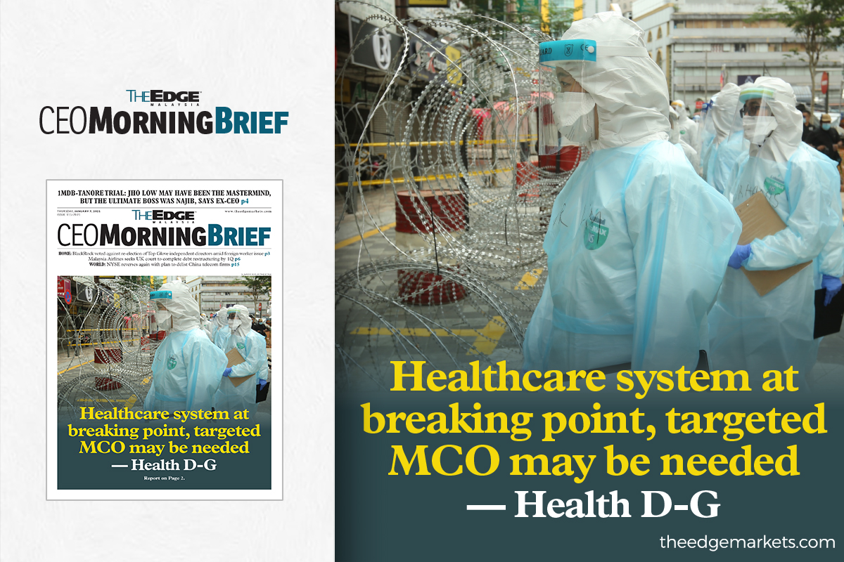 Healthcare system at breaking point, targeted MCO may be needed — Health D-G