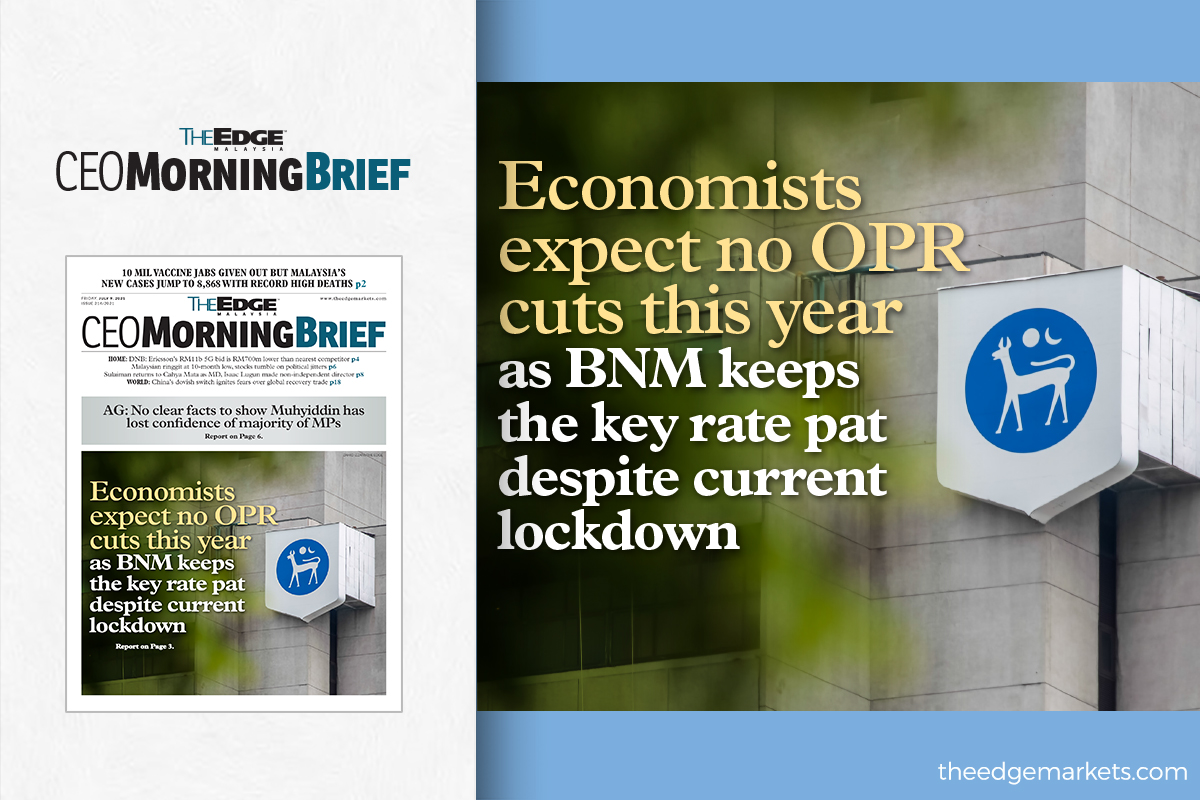 Economists expect no OPR cuts this year as BNM keeps the key rate pat despite current lockdown