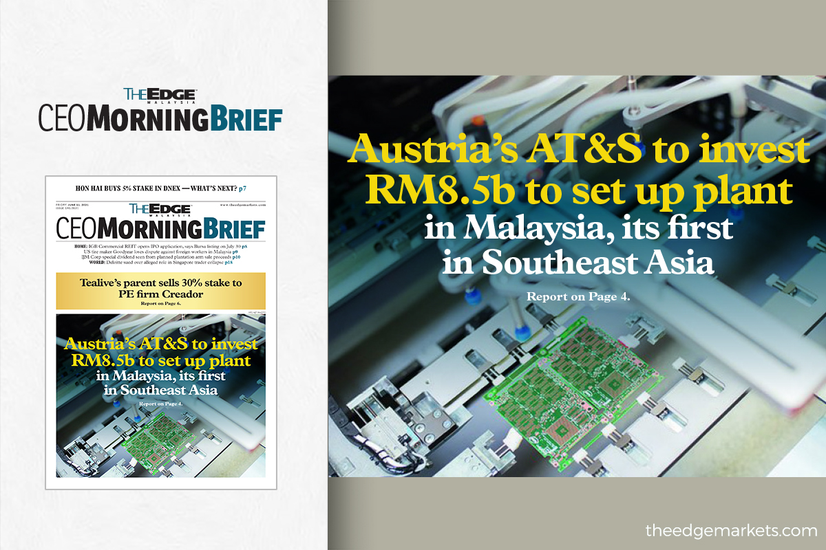 Austria's AT&S to invest RM8.5b to set up plant in Malaysia, its first in Southeast Asia