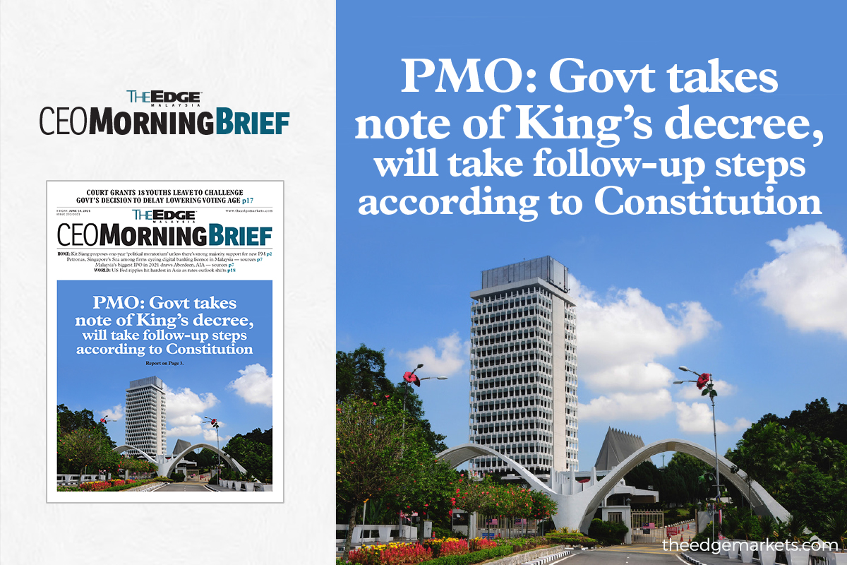 PMO: Govt takes note of King's decree, will take follow-up steps according to Constitution