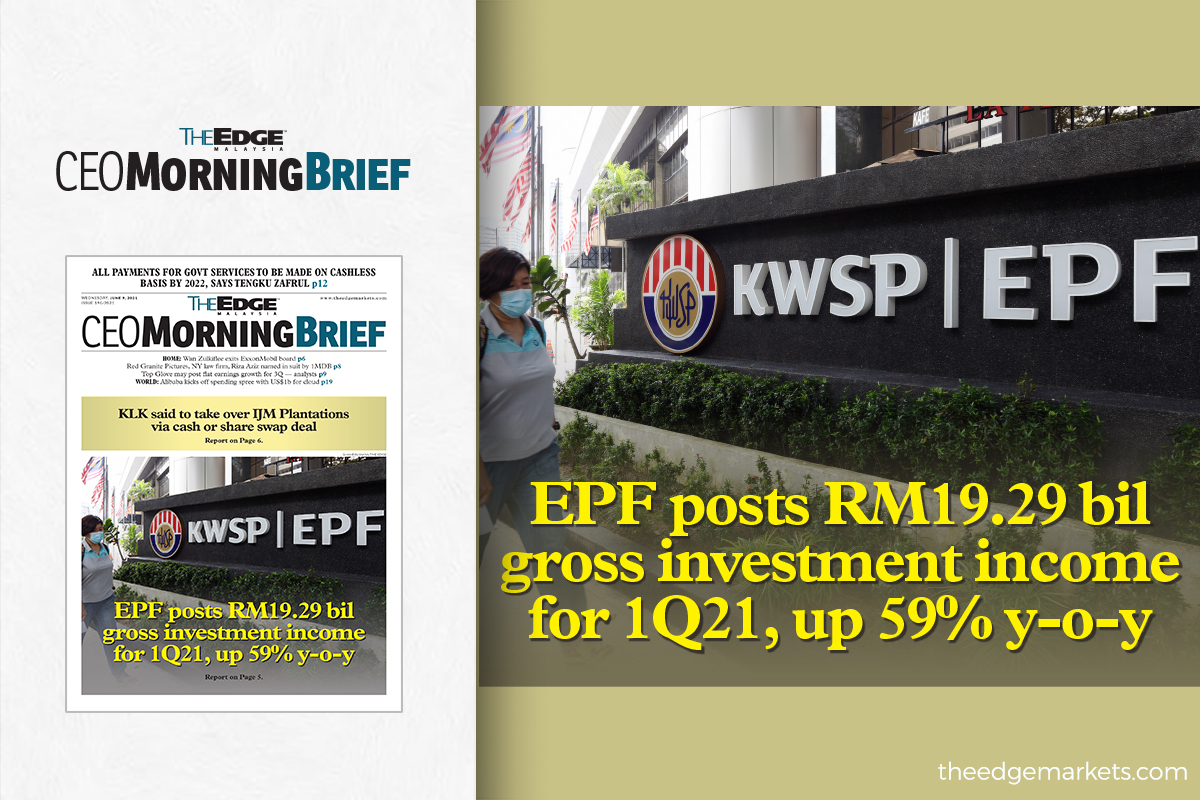 EPF posts RM19.29 billion in gross investment income for 1Q21, up 59% y-o-y