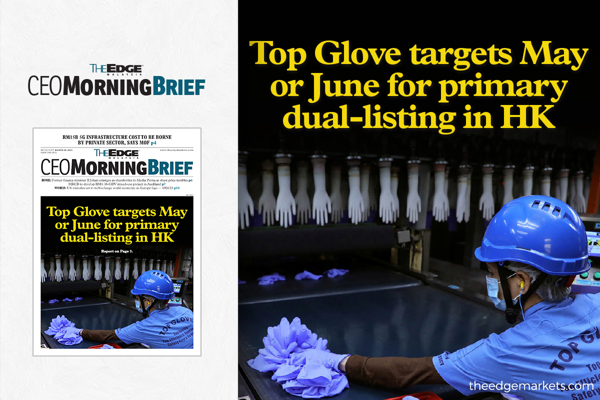 Top Glove targets May or June for primary dual-listing in HK