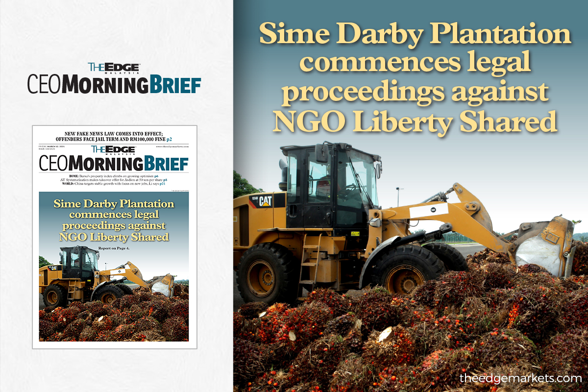 Sime Darby Plantation commences legal proceedings against NGO Liberty Shared