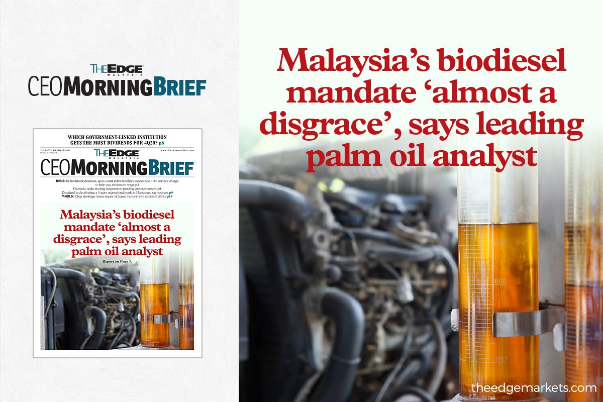 Malaysia's biodiesel mandate 'almost a disgrace', says leading palm oil analyst