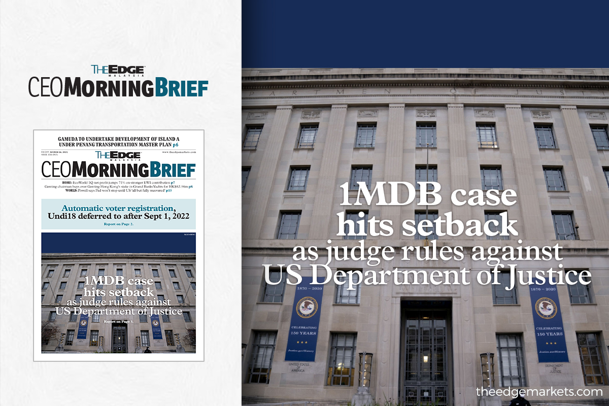 1MDB case hits setback as judge rules against US Department of Justice