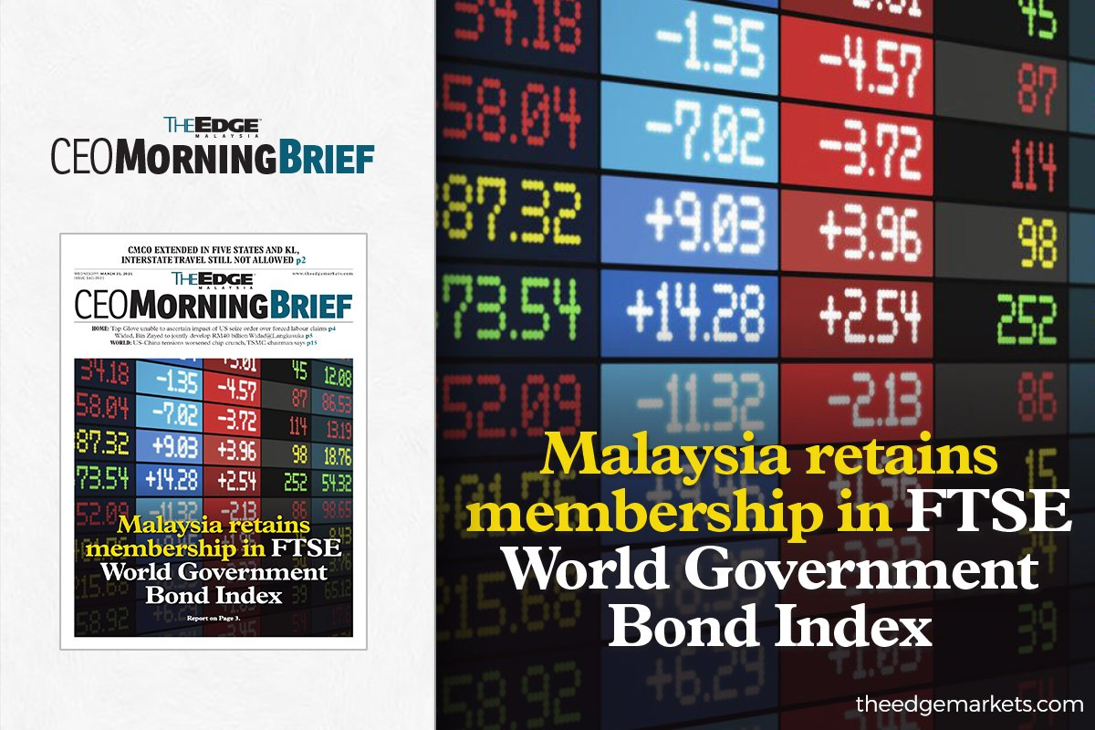 Malaysia retains membership in FTSE World Government Bond Index