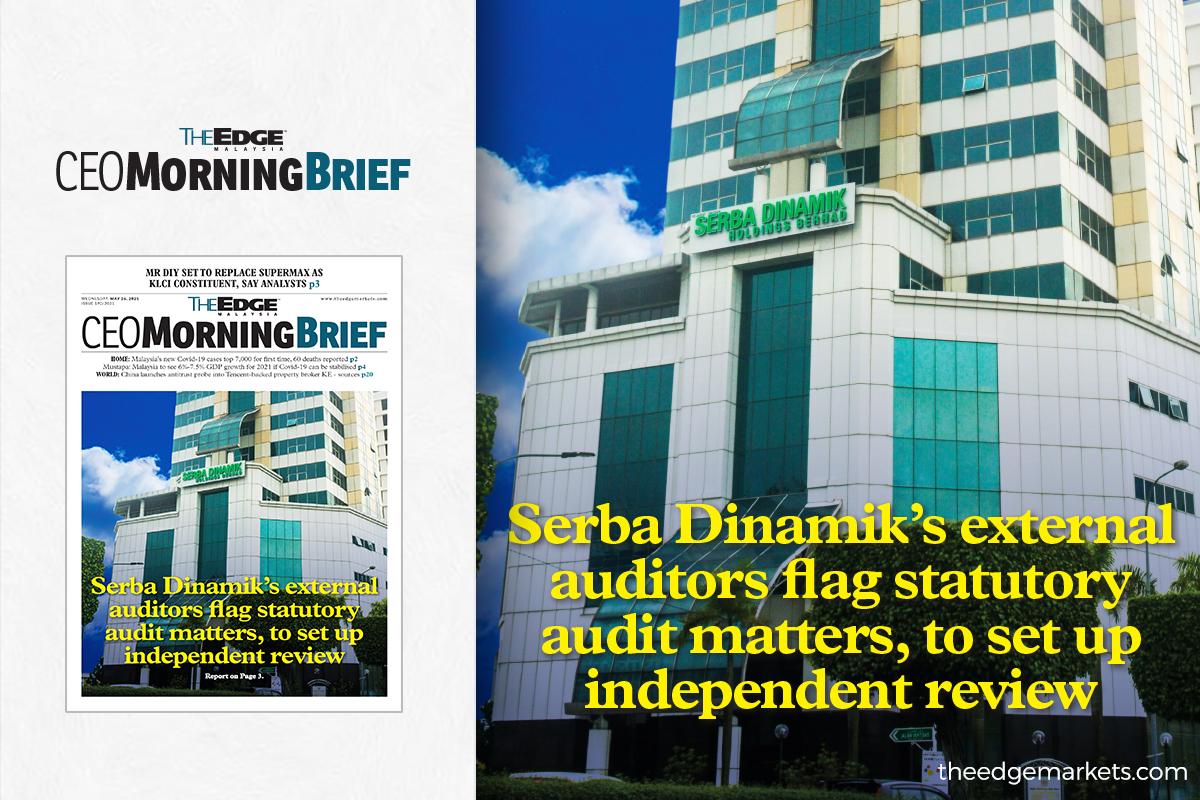 Serba Dinamik's external auditors flag statutory audit matters, to set up independent review