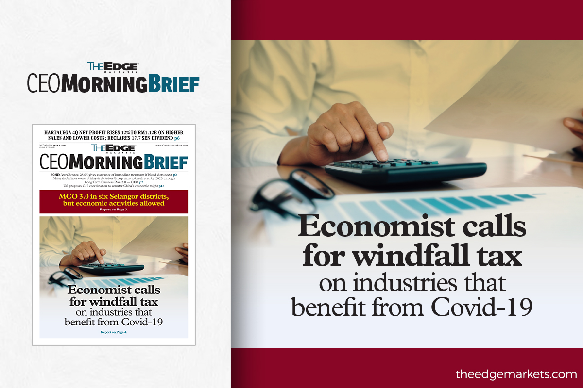 Economist calls for windfall tax on industries that benefit from Covid-19