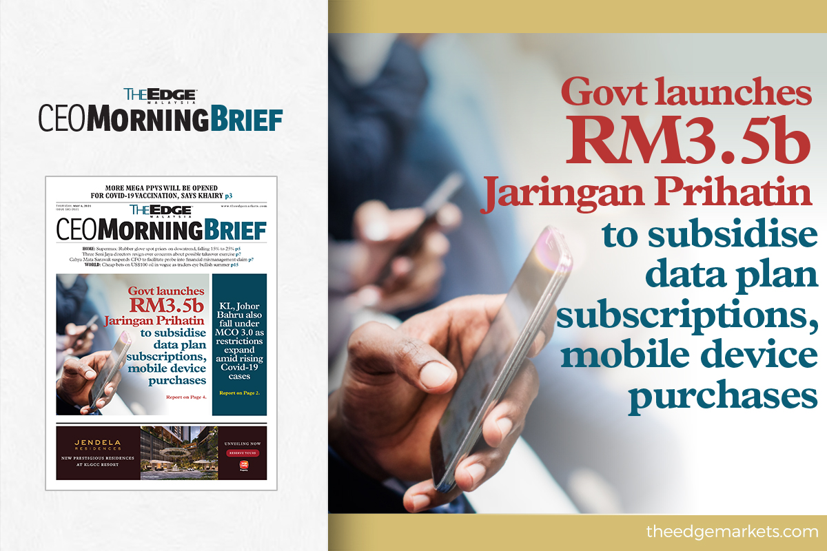 Govt launches RM3.5b Jaringan Prihatin to subsidise data plan subscriptions, mobile device purchases
