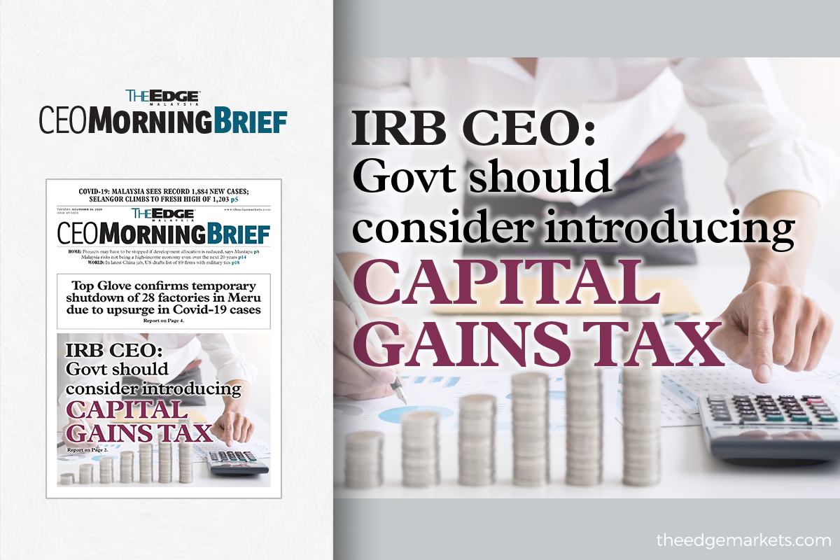 IRB CEO: Govt should consider introducing capital gains tax