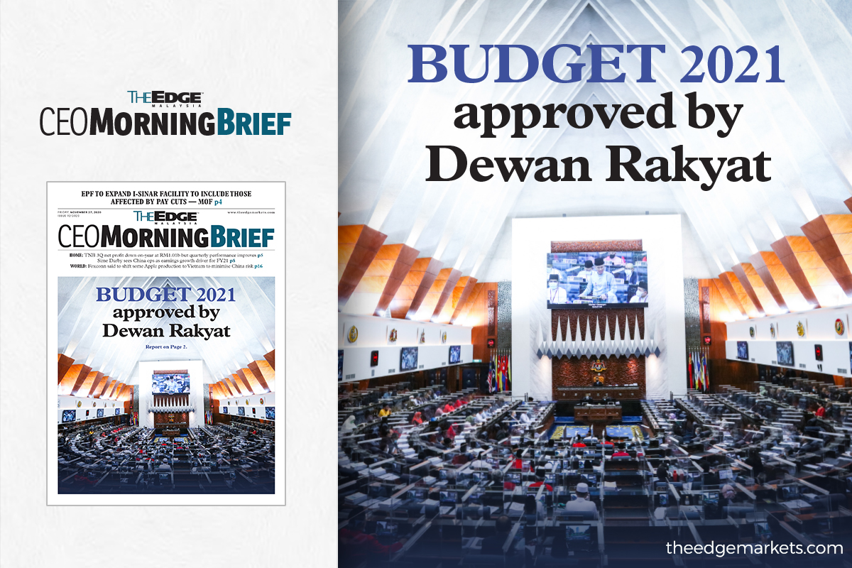 Budget 2021 approved by Dewan Rakyat