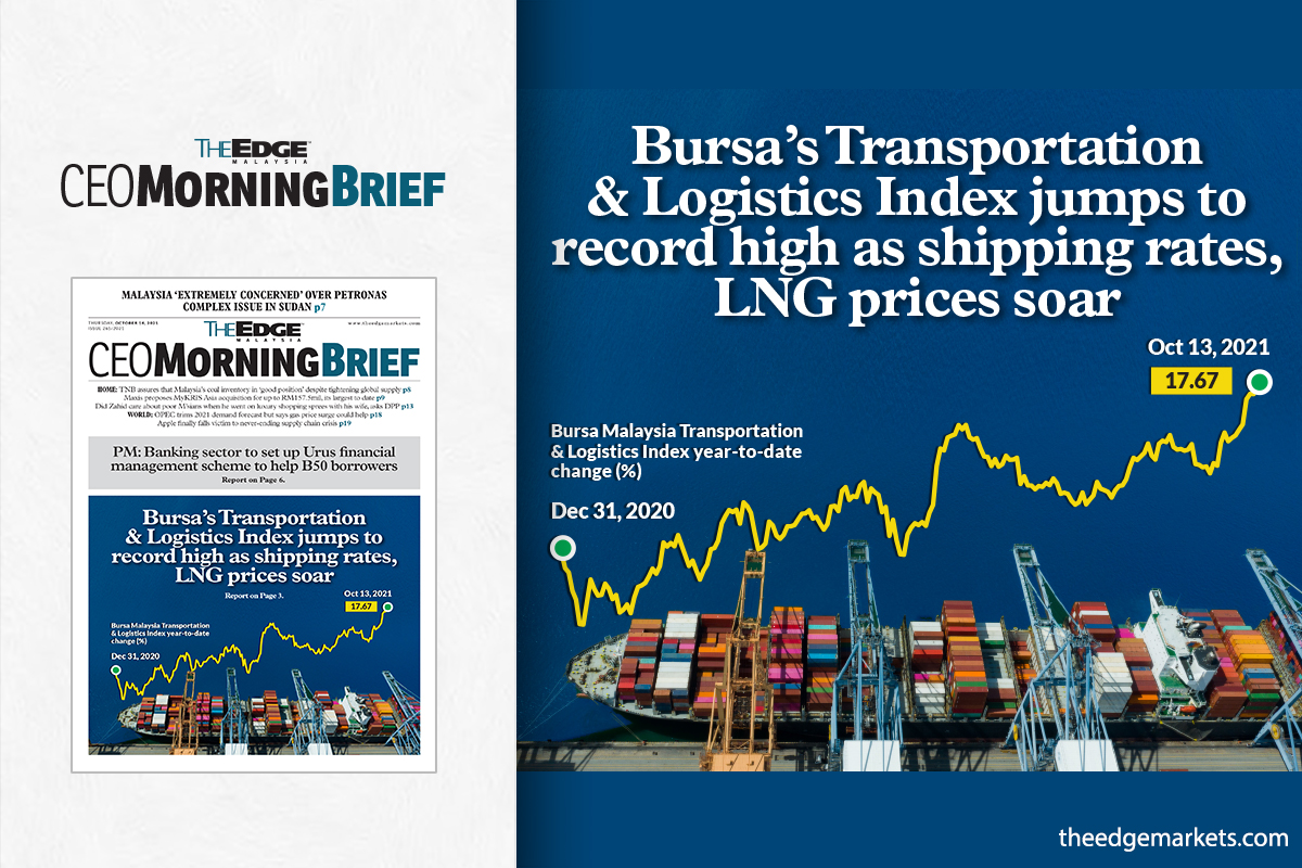 Bursa's Transportation & Logistics Index jumps to record high as shipping rates, LNG prices soar