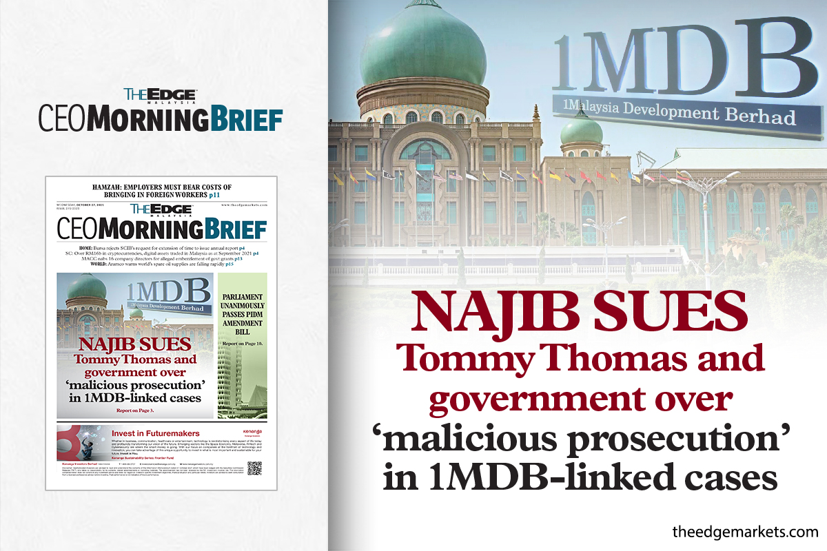 Najib sues Tommy Thomas and government over 'malicious prosecution' in 1MDB-linked cases