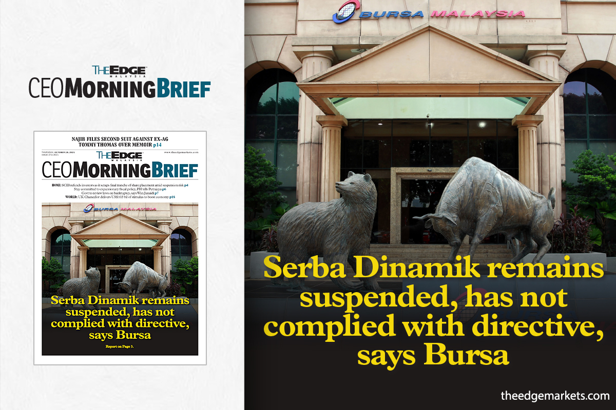 Serba Dinamik remains suspended, has not complied with directive, says Bursa
