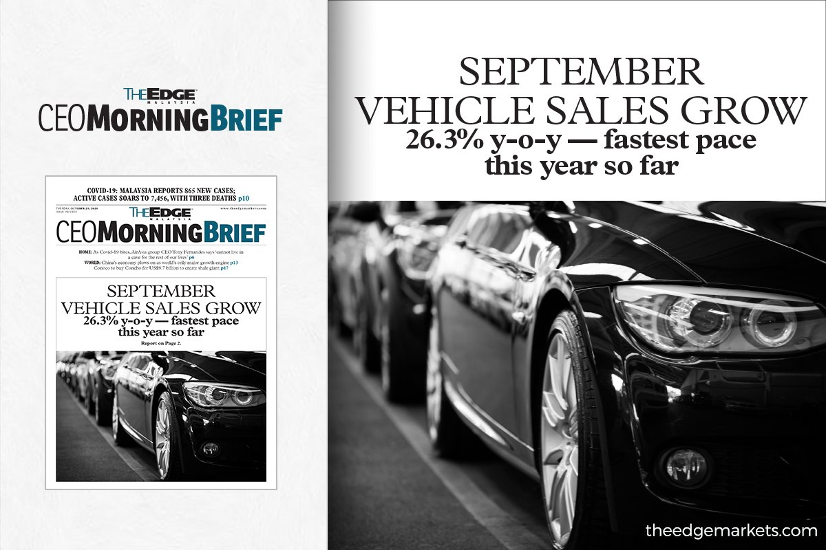 September vehicle sales grow 26.3% y-o-y — fastest pace this year so far