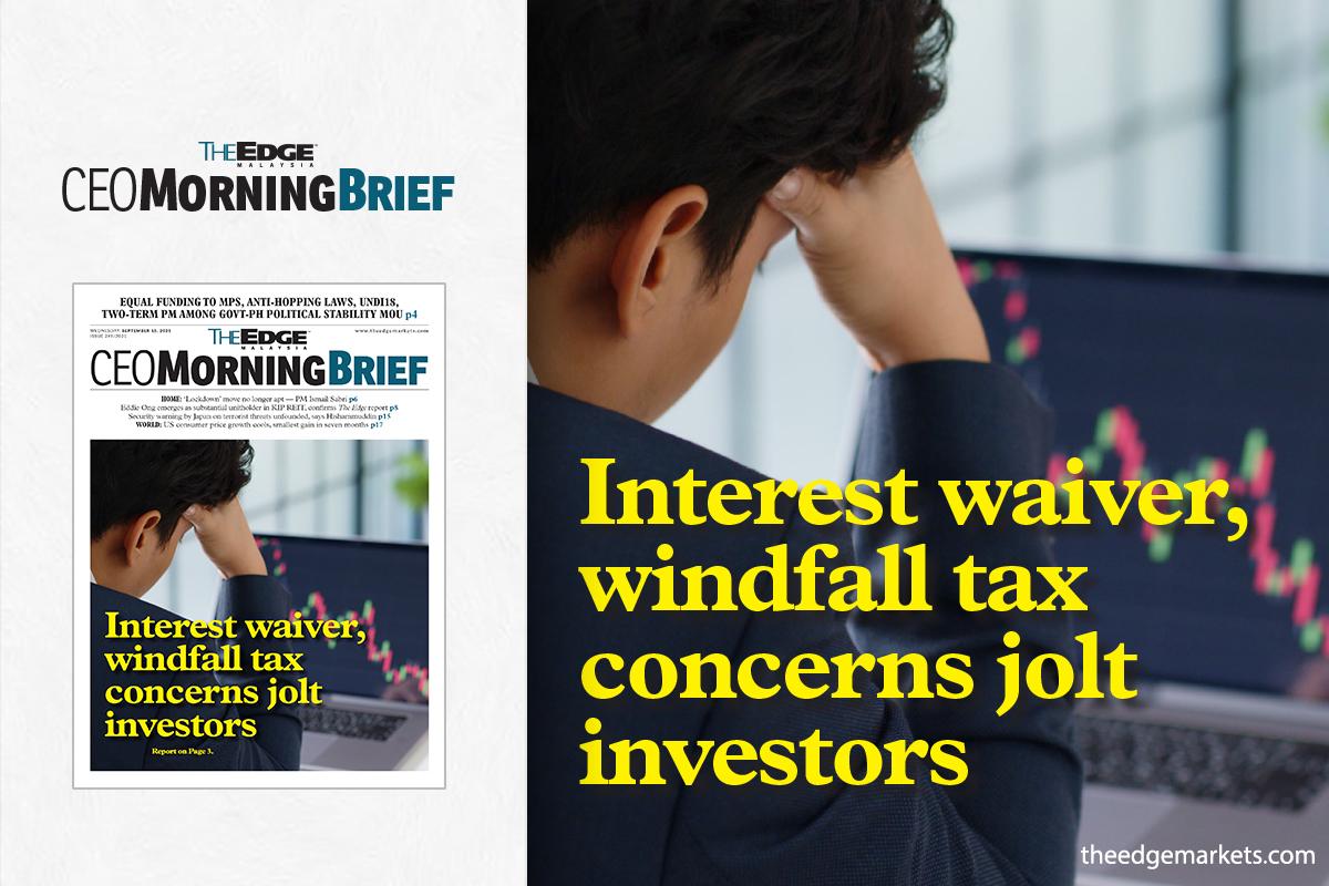 Interest waiver, windfall tax concerns jolt investors