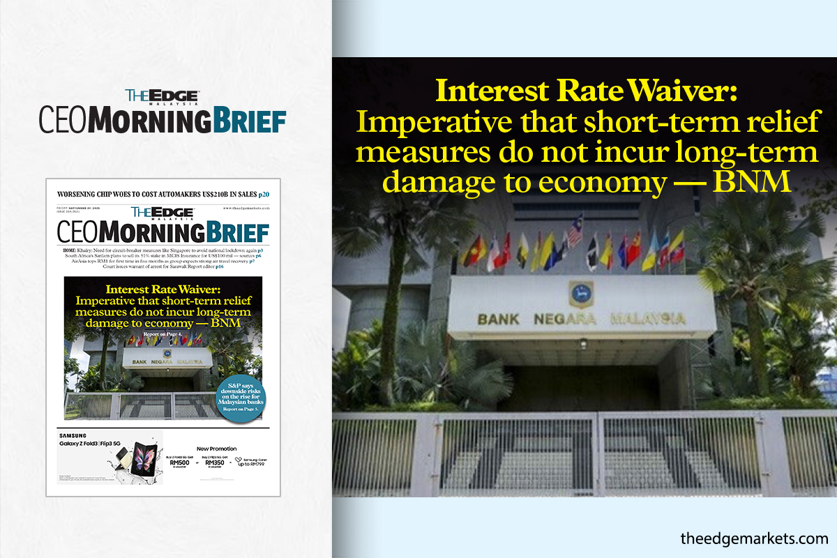 Interest Rate Waiver: Imperative that short-term relief measures do not incur long-term damage to economy — BNM