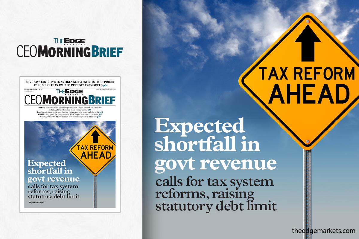 Expected shortfall in govt revenue calls for tax system reforms, raising statutory debt limit