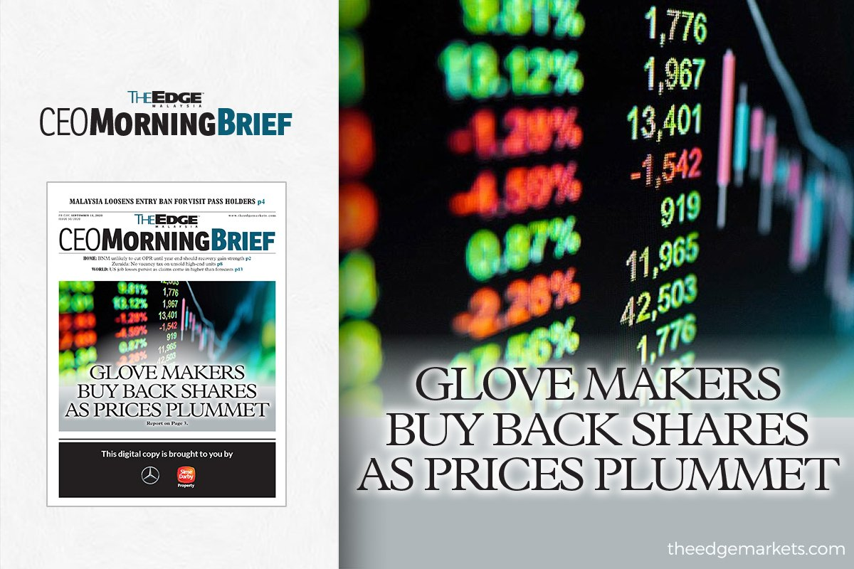 Glove makers buy back shares as prices plummet