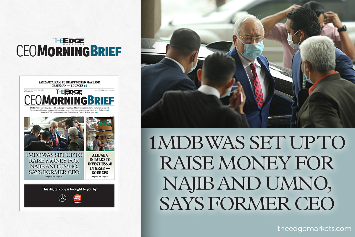 1MDB was set up to raise money for Najib and Umno, says former CEO