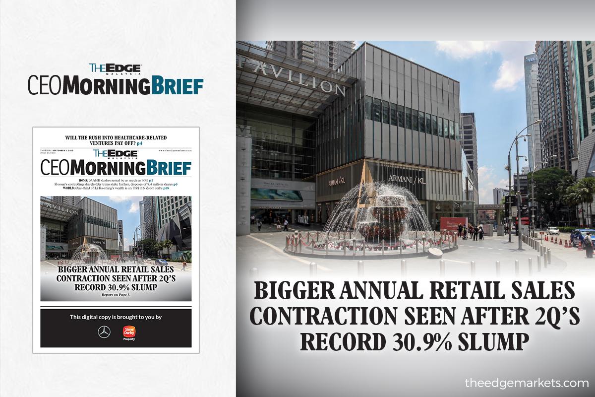 Bigger annual retail sales contraction seen after 2Q's record 30.9% slump