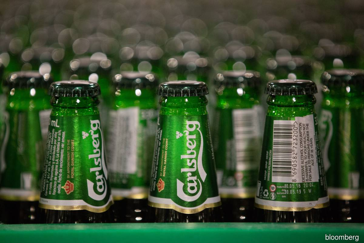 Carlsberg the top gainer in morning trade