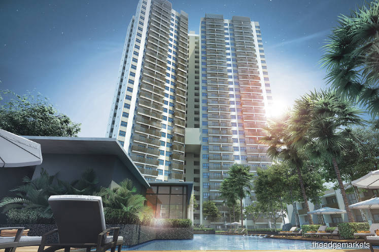 The Cerrado Suites serviced apartment development will comprise four 35-storey blocks with a total of 738 freehold units
