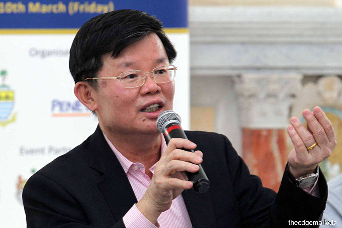 Penang Chief Minister Chow Kon Yeow (The Edge filepix)
