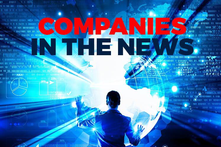 TSR Capital, Vertice, Prestariang, YFG, Boustead Holdings, Sanichi Technology, Grand-Flo, Hap Seng Plantations, Minetech Resources, Destini, Sasbadi and MMC Corp
